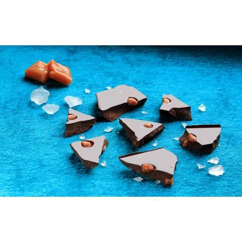 Trozos Caramelo y Sal marina 53% cacao DAVIDA