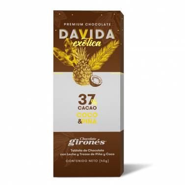 Barra Coco y Piña 37% cacao