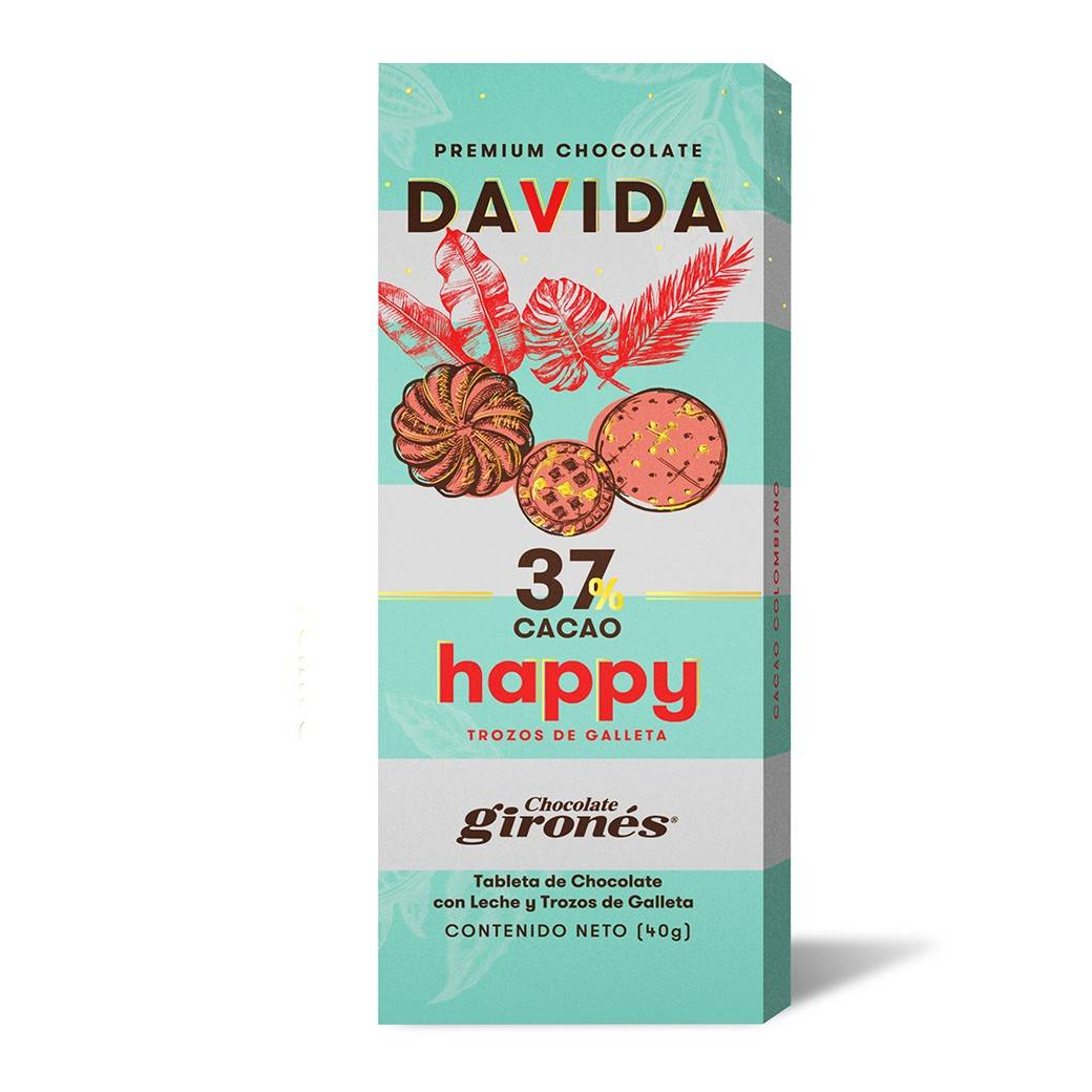 Barra Galleta 37% cacao DAVIDA