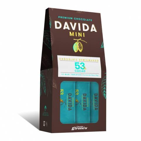 Mini Barras 53% Cacao DAVIDA