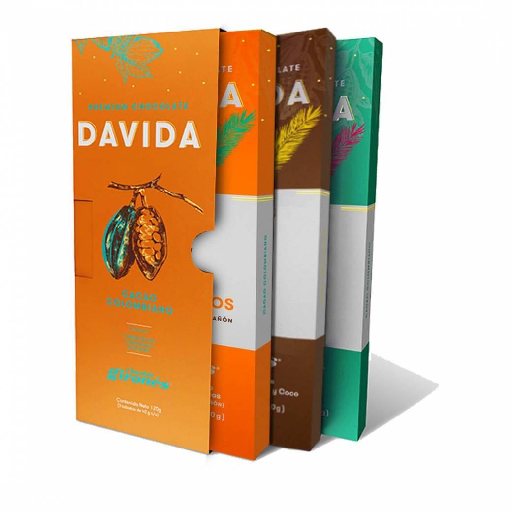 Caja tipo libro x3 DAVIDA