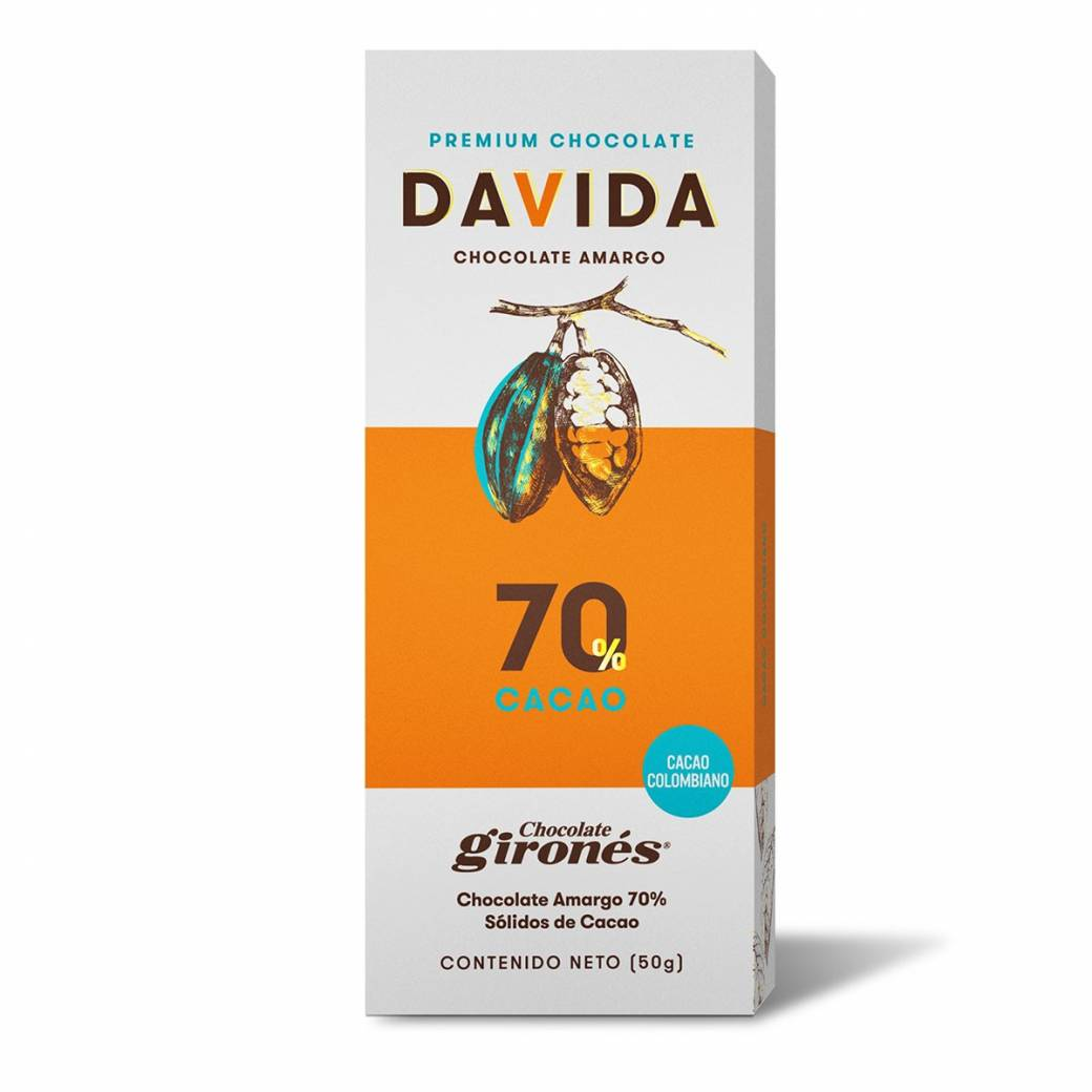 Barra 70% cacao DAVIDA