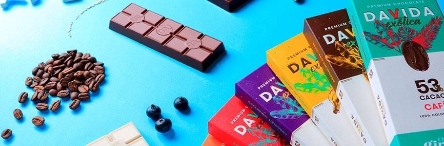 Tablette de chocolat exotique